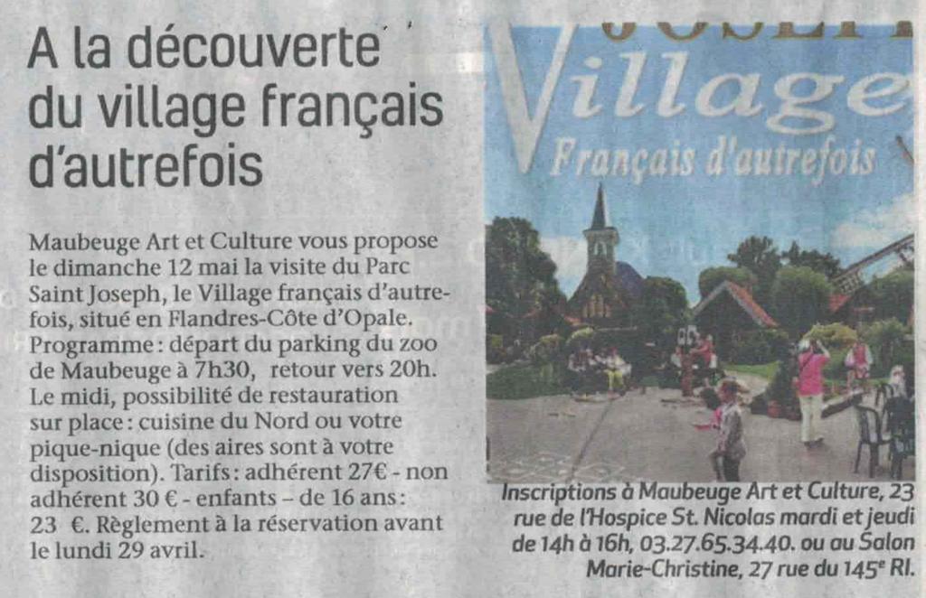 La sambre Visite Village St. Joseph 2019