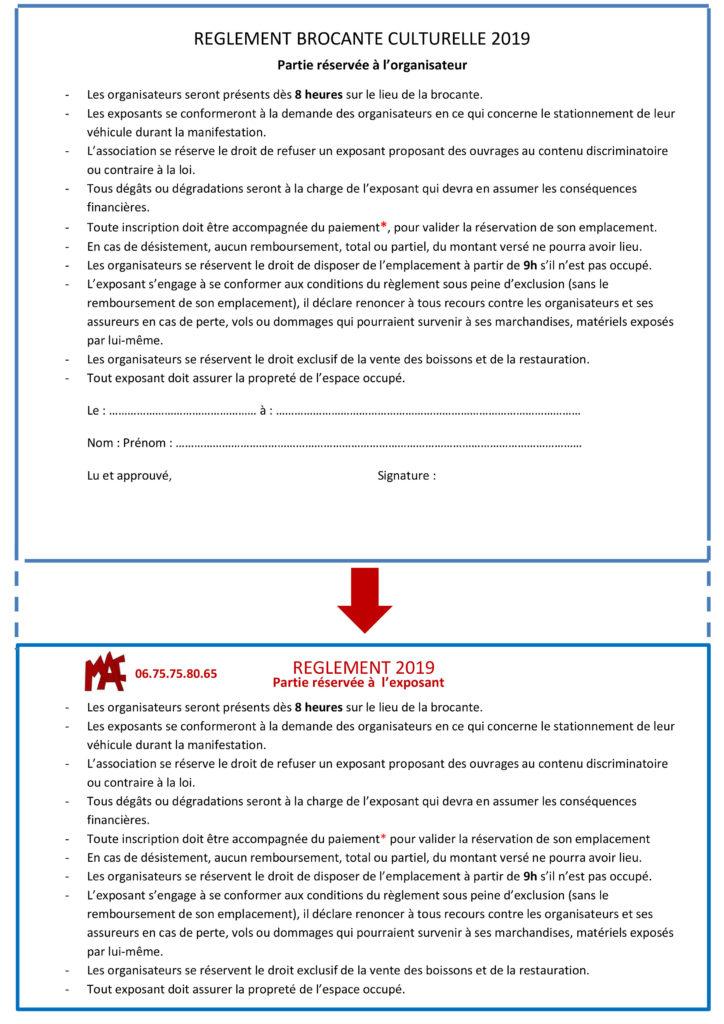 2-Pour site Règlement Brocante corrigé15 09 2019