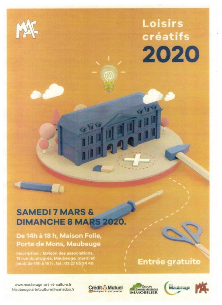 Aff300 Loisirs créa 7 &8 Mars 2020 300